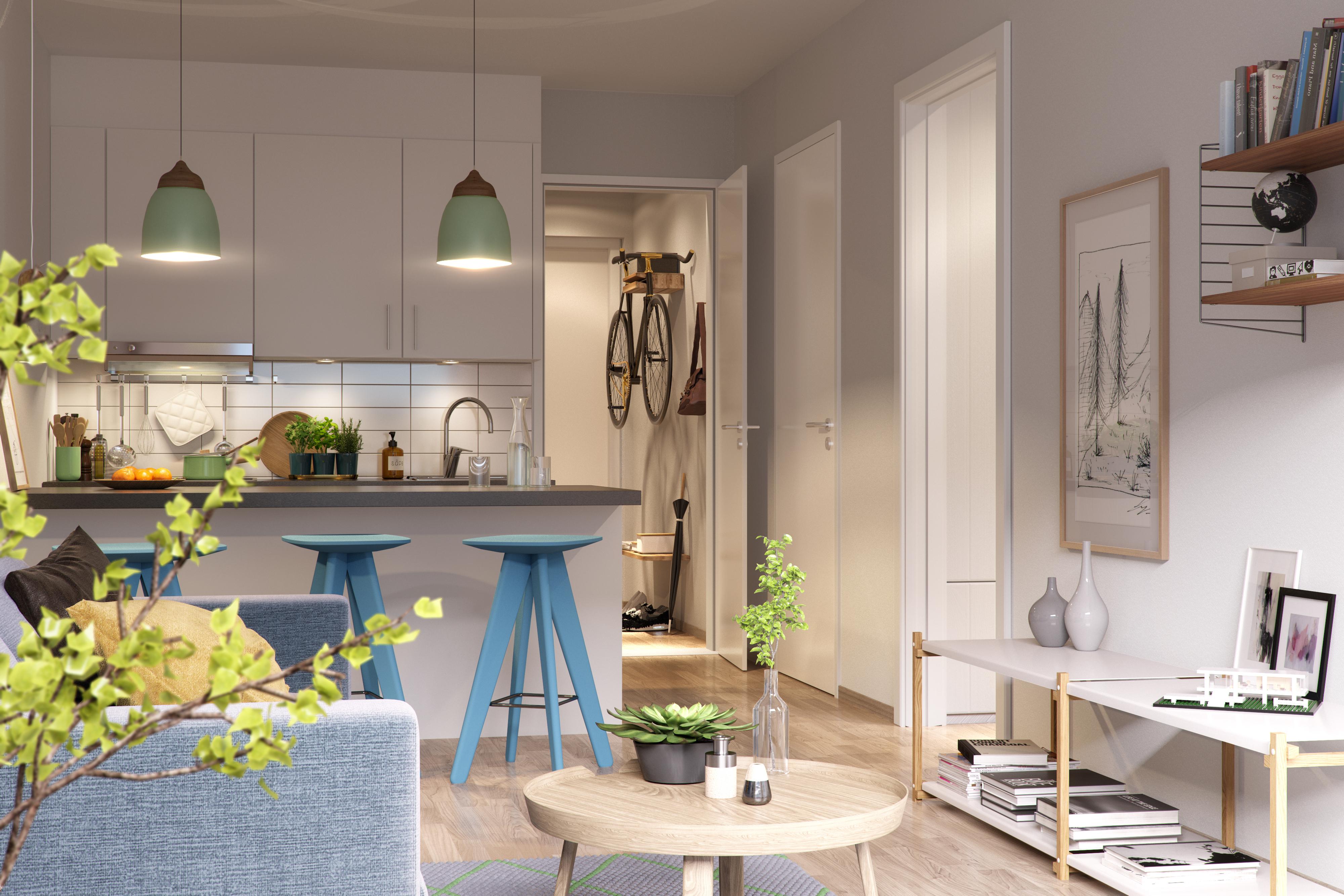 Enormt Innredningstips for små leiligheter | Selvaag Bolig AX-93
