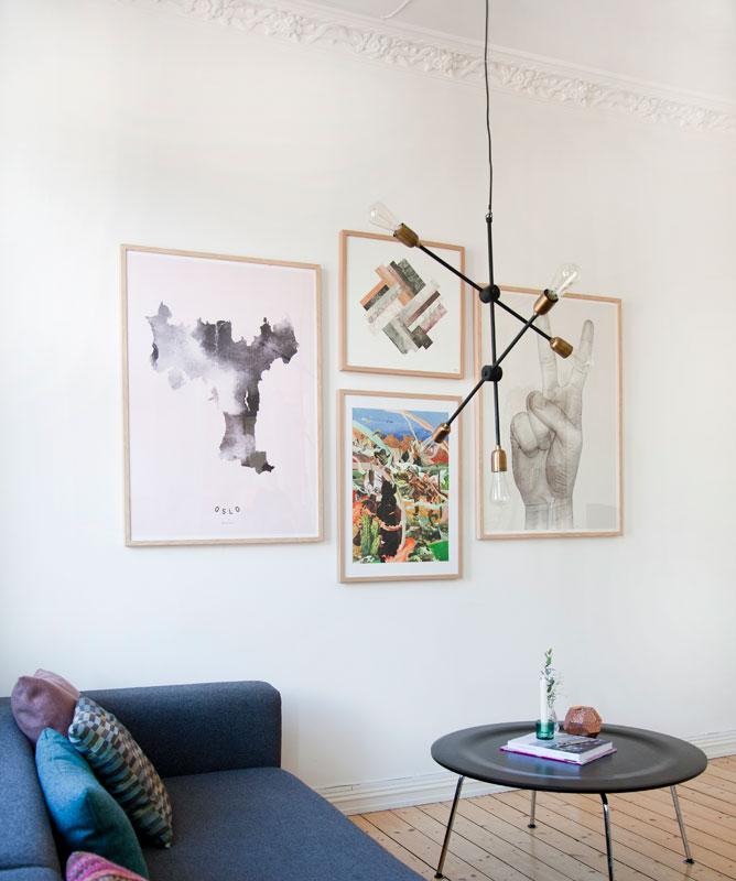 hvordan plassere bilder på veggen